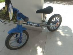 Bicicleta  Btwin  de equilibrio- Azul e cinza
