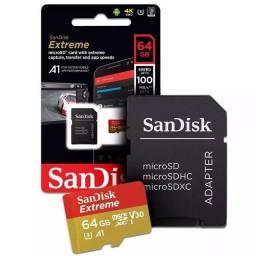 cartão de memória SanDisk extreme 64gb original