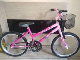 Bicicleta infantil aro 20 linda da Frozen novinha