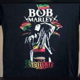 Camiseta Bob Marley e o Reggae GG Preto