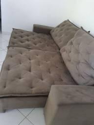 Sofá 6 lugares retrátil e reclinável