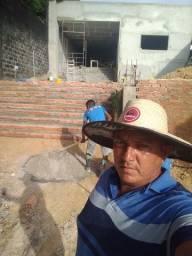 Trabalhamos com obras da fundação ao acabamento
