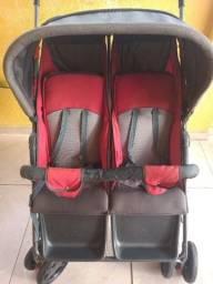 Carrinho de bebês gêmeos Vermelho