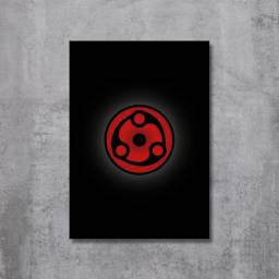 Placa Decorativa Naruto - Mangekyou Sharingan Madara
