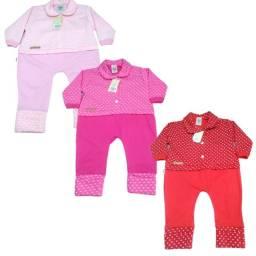 Roupa de Bebê Macacão Infantil Premium Menina em Algodão