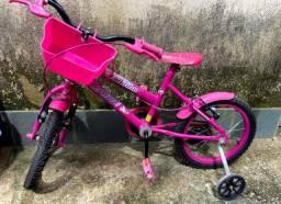 Bicicleta feminina infantil com rodinhas