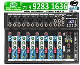 Mesa De Som 7 Canais Mixer Bluetooth Mp3 Player Digital Usb