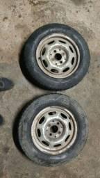 Roda aro 13 VW montada