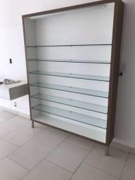 Armário de vidro para exposição de produtos (de parede)