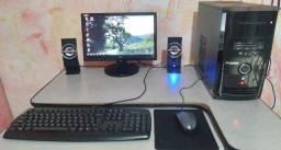 Pc Completo, Dual Core, 4gb Ram, hd 160gb, Monitor 16, Caixas de Som