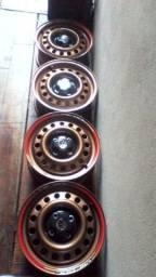 Rodas ferro aro 14 linha Volkswagen