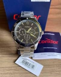 Relógio Social Em aço inoxidável Condor Novo Original (aceito cartão )