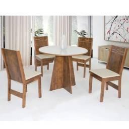 conjunto de mesa com 4 cadeiras Elane