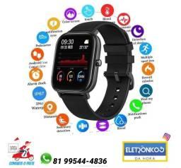 Smartwatch P8 Relógio Inteligente Esportivo Fitness Medidor de pressão arterial Só zap