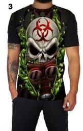 Camiseta estampada caveira