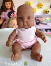 Boneca bebê negra 15 cm