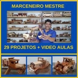 Curso Marceneiro Mestre Online - Aprenda Como Fazer  Lindos Carrinhos de Madeira