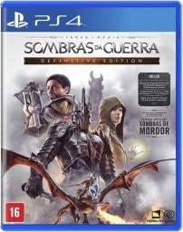 Novo terra média:sombras da guerra definitive edition ps4