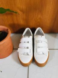 tênis branco zara