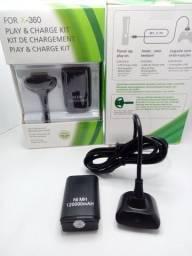 Carregador E Bateria Controle Xbox 360 ( 12000 Mah
