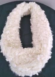 Gola Feminina Tricô Cachecol de Lã Acessório Inverno
