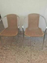 Cadeiras braços de alumínio