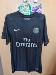 Camisa PSG 2015/16 Modelo Game Preta All Black - Tamanho G