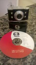 Web Cam C3 Tech 2.2 com Microfone e Flash