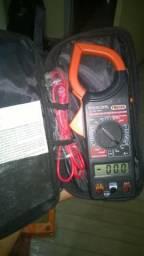Alicate Multímetro digital com amperímetro e Multi Teste de rede NOVO