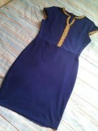 Vestido Blossom tamanho M azul