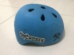 Capacete S x One Premium Helmet Style Blue-Cyan Strap(em bom estado)