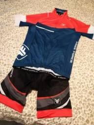 Roupa ciclismo Kit Camisa + Bretelle