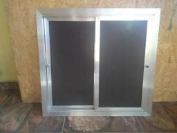 Porta de correr de alumínio para pia