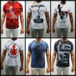 Camisetas Básicas Kit com 10 unidades