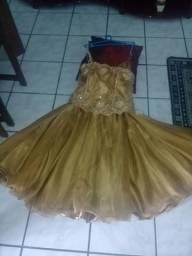 Vestido 15 anos Valsa - Dourado