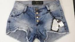 Shorts Jeans Desfiado, Vários tamanhos