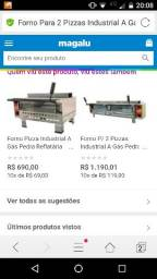 Forno 2 pizzas com infra e pedra refratário gás