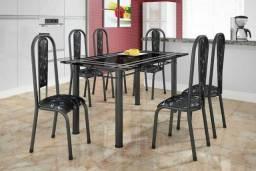 Mesa Ardósia com 6 cadeiras APENAS 600,00 R$