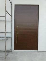 Porta Aluminun luxo. Bronze