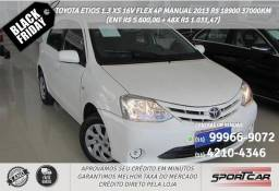 Toyota etios flex manual 2013 R$18983 37093km (ent. R$5.600,00+48× 1.031,47) - 2013