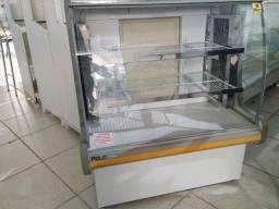Balcão Polofrio para tortas, 1,20m, refrigerado 110v usado Frete Grátis