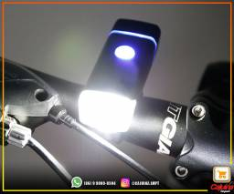 Farol Lanterna Bike Led Recarregável Usb m25df09sd20