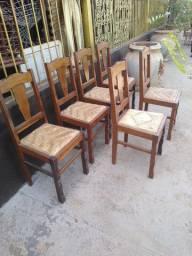 6 Cadeiras de madeira Jacaranda