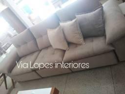Sofa super fofão aqui na Via Lopes Interiores wpp 62 9  *