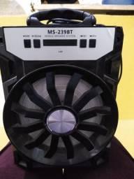 Caixa de som portátil modelo MS 229BT