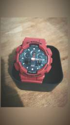 Relógio G SHOCK Ga 100 Vermelho