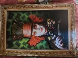 Placa decorativa mdf 3d 30×40 Alice no País das maravilhas