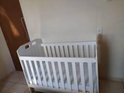Berço Mini cama Clara grade fixa Branco Carolina Baby