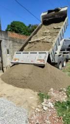 Areia lavada grossa da Paraíba apropriada para o concreto..