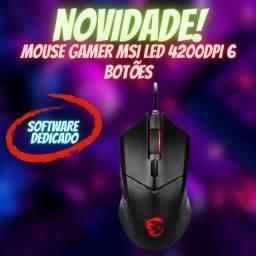 Mouse Gamer MSI 4200DPI 6 Botões USB